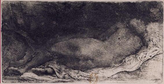 Negra dormida - Rembrandt