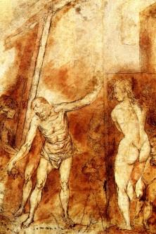 Descenso al Limbo (dibujo preparatorio) - A. Cano
