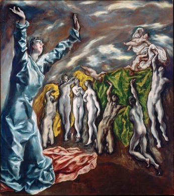 La visión de San Juan - El Greco