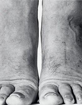 John Coplans, Self-Portrait- Feet Frontal
