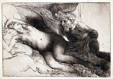 Júpiter y Antiope - Rembrandt