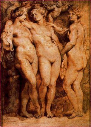 Las tres Gracias (Rubens, en la Galeria Palatina)