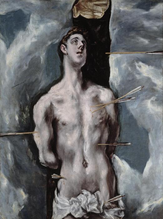 San Sebastian - El Greco (Museo del Prado)- Cuadro superior