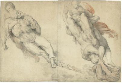 Dos hombres desnudos...según Miguel Angel (Rubens)