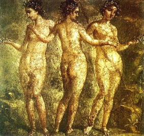 Las tres Gracias (Mural de Pompeya)