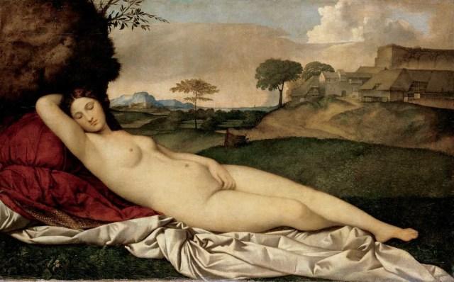 Venus dormida - Giorgione