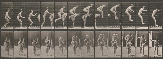 Muchachos jugando a la pídola - Muybridge