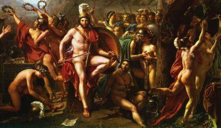 Leónidas en las Termópilas - David