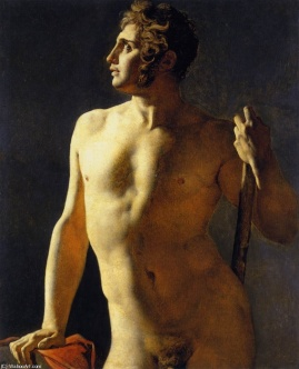 Estudio de varón desnudo - Ingres