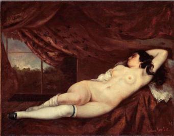 Mujer durmiente desnuda-Courbet