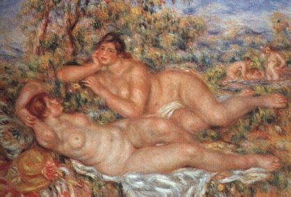 Mujeres en el baño - Renoir