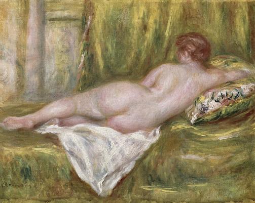 Desnudo acostado - Renoir