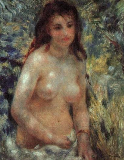 Estudio de desnudo al sol - Renori