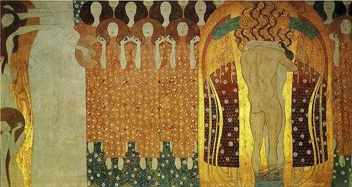 El anhelo de felicidad satisfecho en la poesía - Klimt