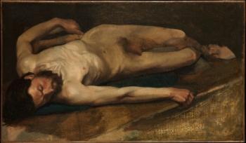 Hombre desnudo - Degas