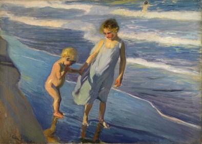 Dos niños en una playa - Sorolla