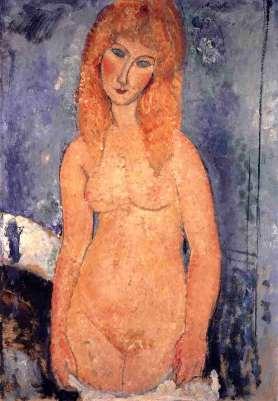 Rubia desnuda, 1917 - Modigliani