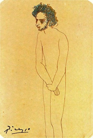 Casagemas desnudo - Picasso
