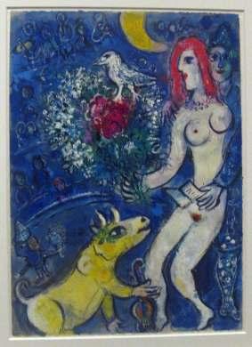 Amantes y toro - Chagall