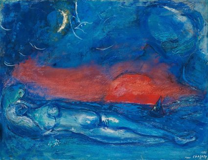 Desnudo en Dramont - Chagall