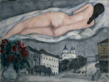 Desnudo por encima de Vitebsk - Chagall