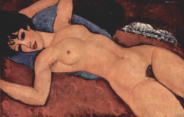 Desnudo rojo - Modigliani