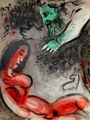 Dios y Eva - Chagall