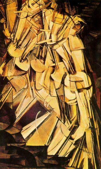 Desnudo bajando una escalera - Duchamp