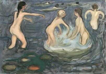 Niñas en el baño - Munch