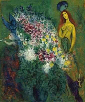 Desnudo con niño - Chagall