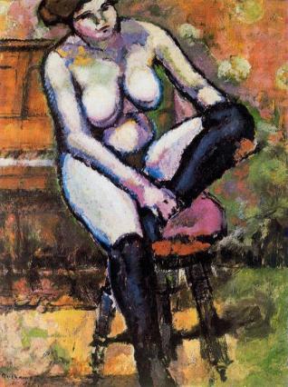 Desnudo con medias negras - Duchamp