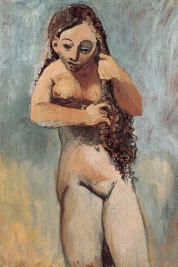 Mujer desnuda peinándose - Picasso