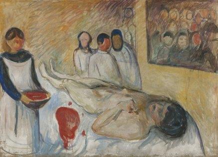 Autorretrato en la mesa de operaciones - Munch