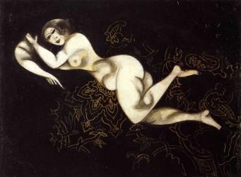 Desnudo recostado - Chagall