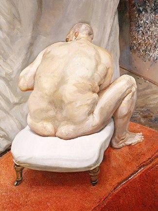 Hombre desnudo visto de espaldas - Lucien Freud