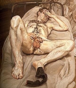 Hombre desnudo en la cama - Lucien Freud