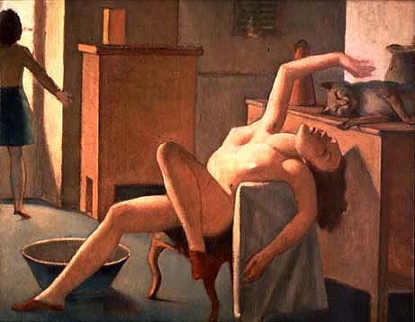 Desnudo con gato - Balthus