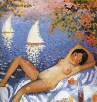 Desnudo en paisaje - Dalí