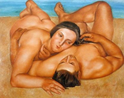 Desnudos en la playa - Jospep de Togores