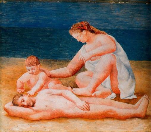 Familia a la orilla del mar - Picasso