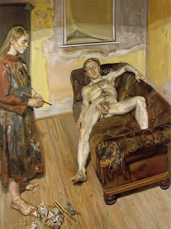 Pintor y modelo - Lucien Freud