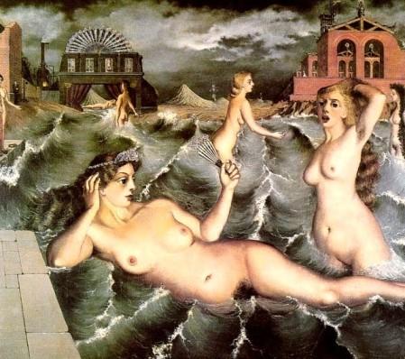 Ninfas bañándose - Paul Delvaux