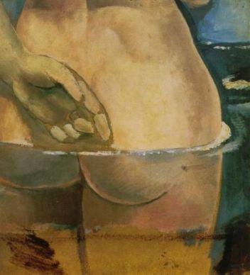 Desnudo en el agua - Dalí
