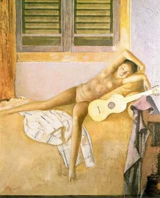 Desnudo con guitarra - Balthus