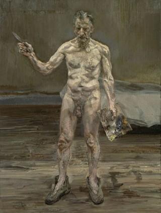 Pintor trabajando, reflejo - Lucien Freud