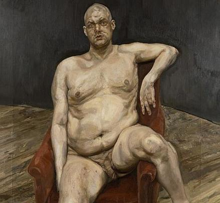 Retrato de su amigo Leigh Bowery - Lucien Freud