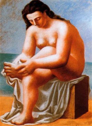 Desnudo sentado secándose los pies - Picasso