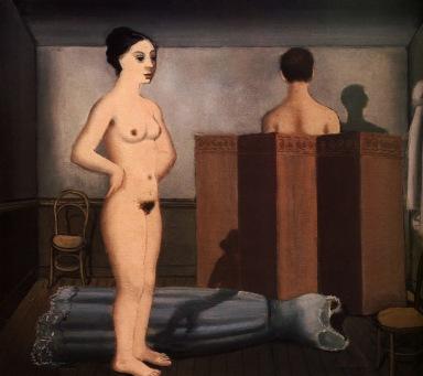 La pantalla - Paul Delvaux