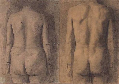 Estudio de dos espaldas - Antonio López