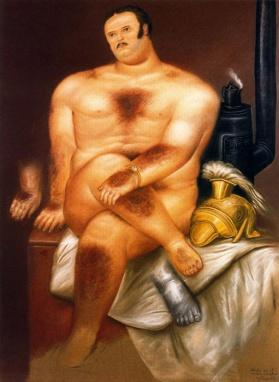 Estudio de un modelo masculino - Fernando Botero